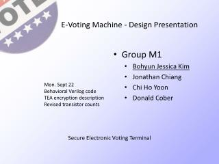 E-Voting Machine - Design Presentation