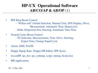 HP-UX  Operational Software AB/CO/AP & AB/OP  (1)
