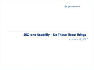 SEO and Usability – Do These Three Things