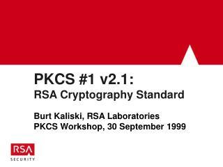 PKCS #1 v2.1: RSA Cryptography Standard