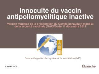 Groupe de gestion des systèmes de vaccination (IMG)