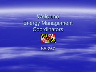 Welcome Energy Management Coordinators