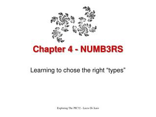 Chapter 4 - NUMB3RS