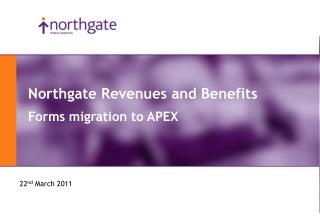 Northgate Revenues and Benefits Forms migration to APEX