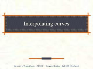 Interpolating curves