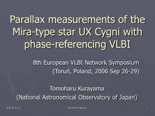 Parallax measurements of the Mira-type star UX Cygni with phase-referencing VLBI