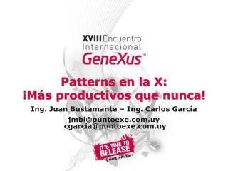 Patterns en la X: ¡Más productivos que nunca!