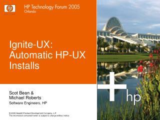 Ignite-UX: Automatic HP-UX Installs