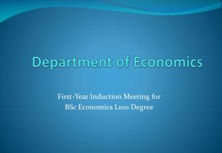 Department of Economics