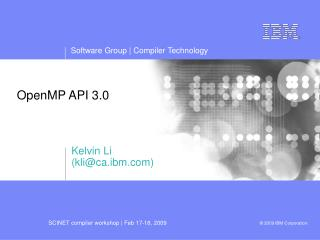 OpenMP API 3.0