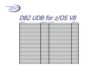 DB2 UDB for z/OS V8
