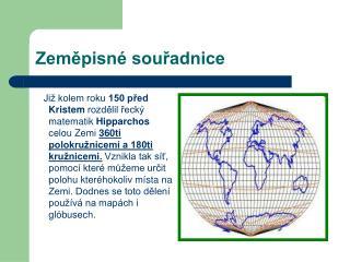 Zeměpisné souřadnice