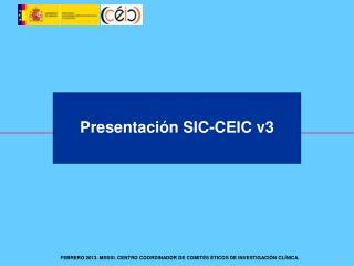 Presentación SIC-CEIC v3