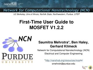 First-Time User Guide to MOSFET V1.2.2