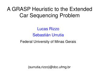 A GRASP Heuristic to the Extended Car Sequencing Problem