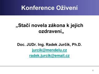 Konference Oživení