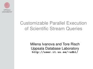Customizable Parallel Execution of Scientific Stream Queries