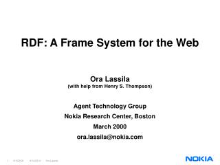 RDF: A Frame System for the Web