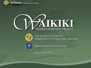 City & County of Honolulu Department of Transportation Services