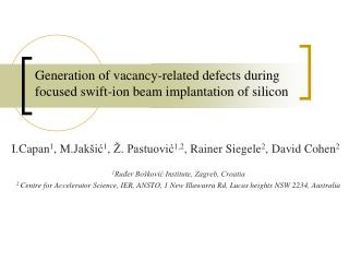 Generation of vacancy-related defects during focused swift-ion beam implantation of silicon