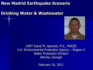 New Madrid Earthquake Scenario Drinking Water & Wastewater