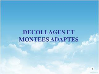 DECOLLAGES ET MONTEES ADAPTES