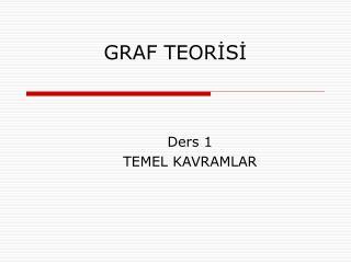 GRAF TEORİSİ