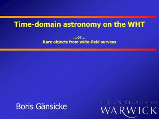 Time-domain astronomy on the WHT