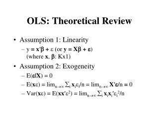 OLS: Theoretical Review