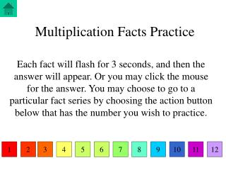 Multiplication Facts Practice