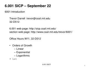 6.001 SICP – September 22