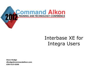 Interbase XE for Integra Users