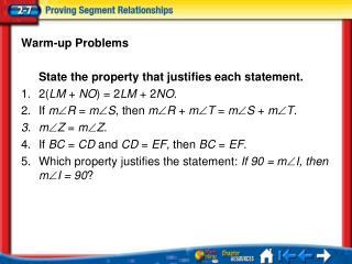 Lesson 7 Menu