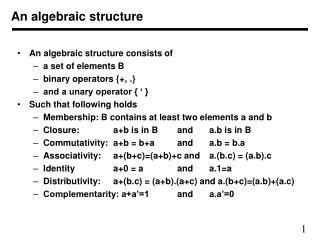 An algebraic structure