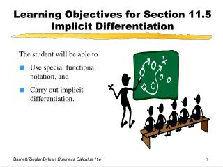 Learning Objectives for Section 11.5  Implicit Differentiation
