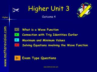 Higher Unit 3