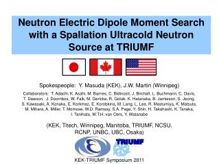 Neutron Electric Dipole Moment Search with a Spallation Ultracold Neutron Source at TRIUMF