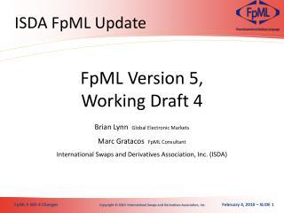 ISDA FpML Update