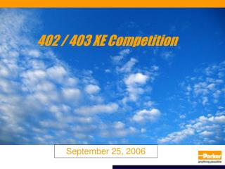 402 / 403 XE Competition