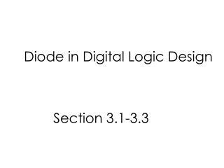 Diode in Digital Logic Design
