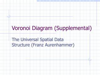 Voronoi Diagram (Supplemental)