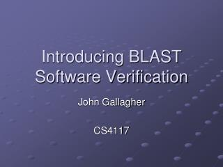 Introducing BLAST Software Verification