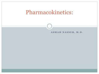 Pharmacokinetics:
