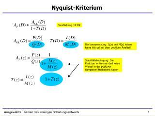Nyquist-Kriterium