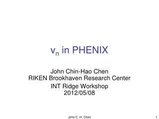 v n  in PHENIX
