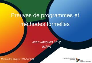 Jean-Jacques Lévy INRIA