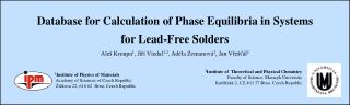 Database for Calculation of Phase Equilibria in Systems for  L ead-Free Solders