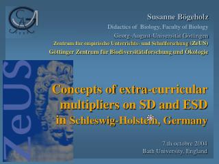 Concepts of extra-curricular multipliers on SD and ESD  in  Schleswig-Holstein, Germany