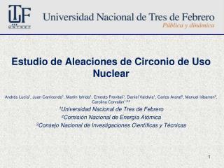 Estudio de Aleaciones de Circonio de Uso Nuclear