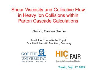 Shear Viscosity and Collective Flow in Heavy Ion Collisions within Parton Cascade Calculations